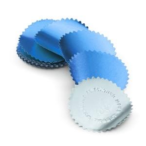 Eticheta timbru sec albastra