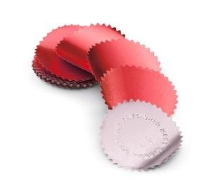 Eticheta timbru sec rosie